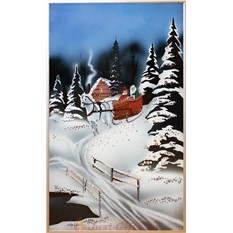 Картина с кристаллами Swarovski Зимняя прогулка