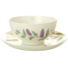Фарфоровая чашка с блюдцем Полевые цветы