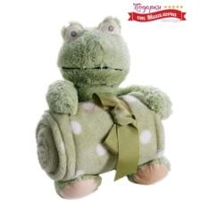 Плед с игрушкой Лягушонок