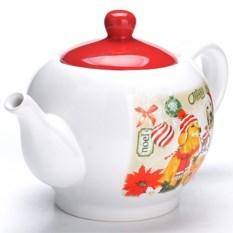 Заварочный чайник с крышкой Новогодние собачки