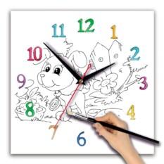 Детские часы-раскраска Щенок