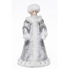 Фигурка из ткани Снегурочка со снежком