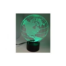 Настольная 3D-лампа Земной шар