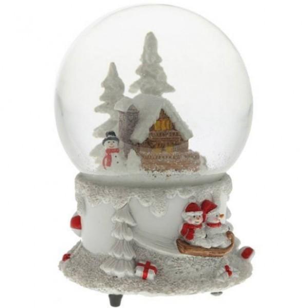 Музыкальный новогодний шар со снегом Зима