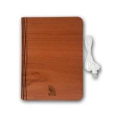 Светильник Lumobook с функцией PowerBank (цвет: вишня)