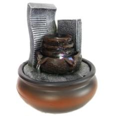 Настольный фонтан со светодиодной подсветкой Источник у каменных плит