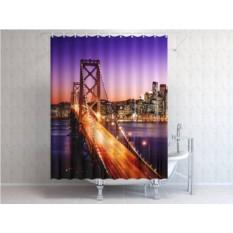 Фотоштора для ванной Бруклинский мост