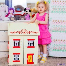 Игрушечный кукольный домик София с 15 предметами мебели