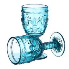 Набор из 6 бокалов из бирюзового стекла Greenish