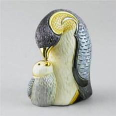 Керамическая статуэтка Пингвин с пингвиненком