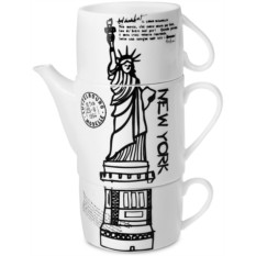 Чайник с двумя кружками «Нью-Йорк»