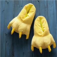 Желтые тапочки-лапки