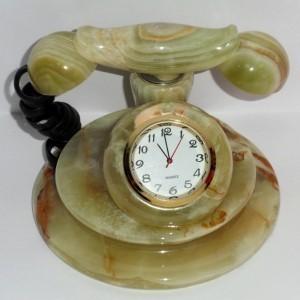 Сувенир Часы-телефон из оникса