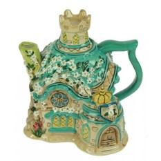 Декоративный заварочный чайник Цветочный замок
