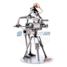 Статуэтка из металла Оператор с камерой