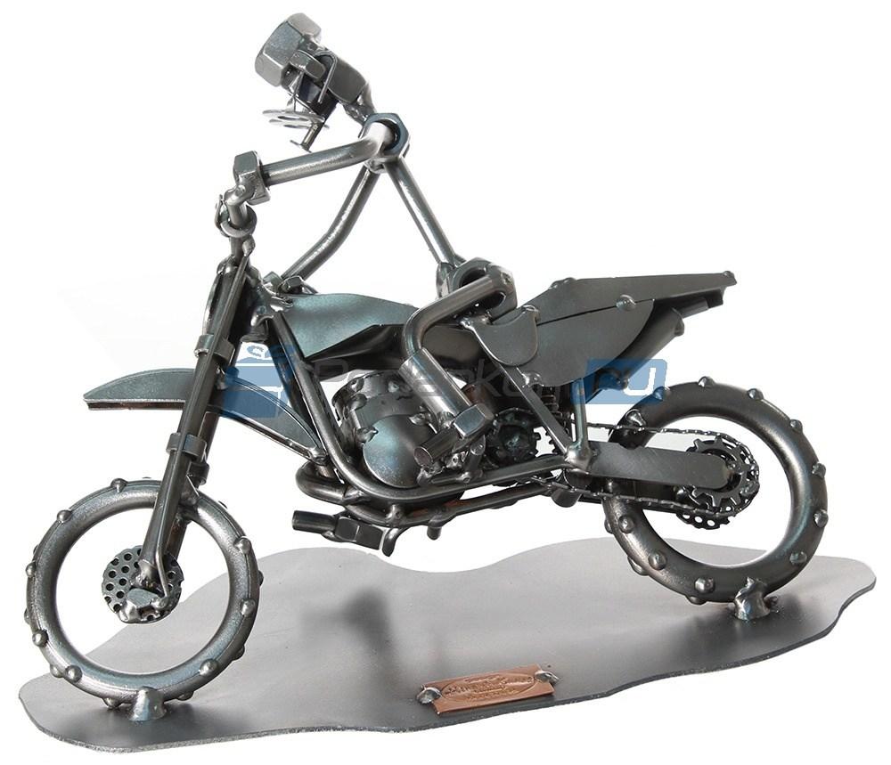 Статуэтка из металла Мотоциклист