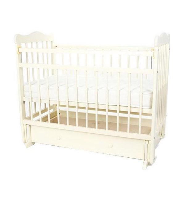 Кровать-маятник Любаша № 5 Кедр, цвет: белый