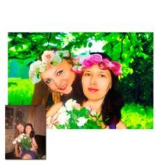Замена фона на фотографии с последующей печатью