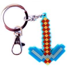 Резиновый брелок Minecraft Алмазная кирка