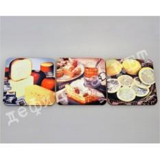Набор подставок под кружки «Сыр, чай, лимон»