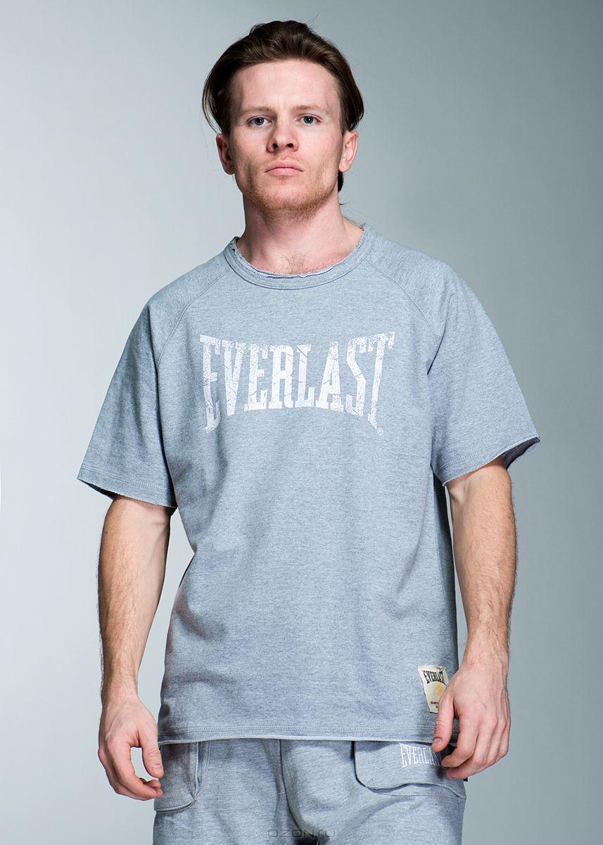 Голубая футболка Everlast
