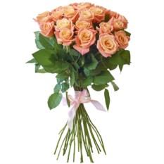Букет из 25 роз Мисс Пигги 50 см