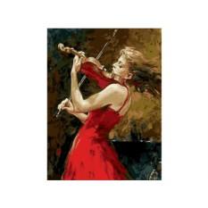 Картины по номерам «Скрипачка»