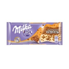 Шоколад Milka Waves Caramel