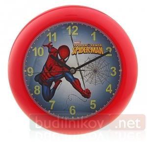 Часы Настенные Детские Человек-Паук пластиковые (красные)