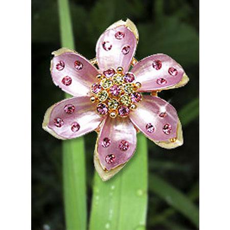 Брошь «Розовая Хризантема»