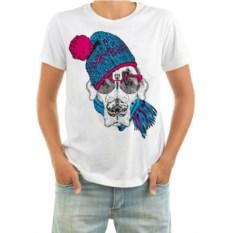 Мужская футболка Собака в шапке, шарфике и очках