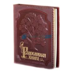 Родословная книга Изысканная в оплетке в обложке из кожи
