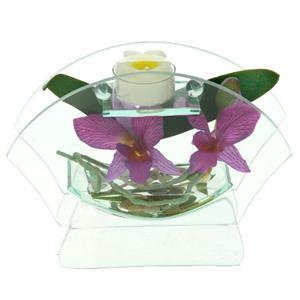 Декоративный подсвечник «Орхидея Лиодора»