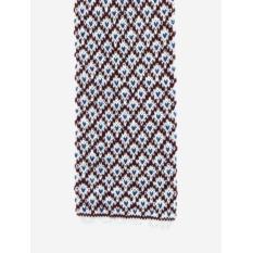 Вязаный галстук Calabrese с узором белых и пурпурных тонов
