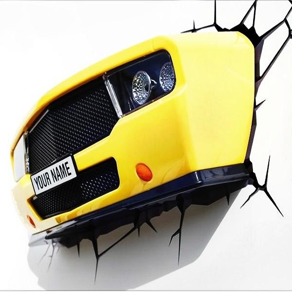 3D-светильник Авто, желтый