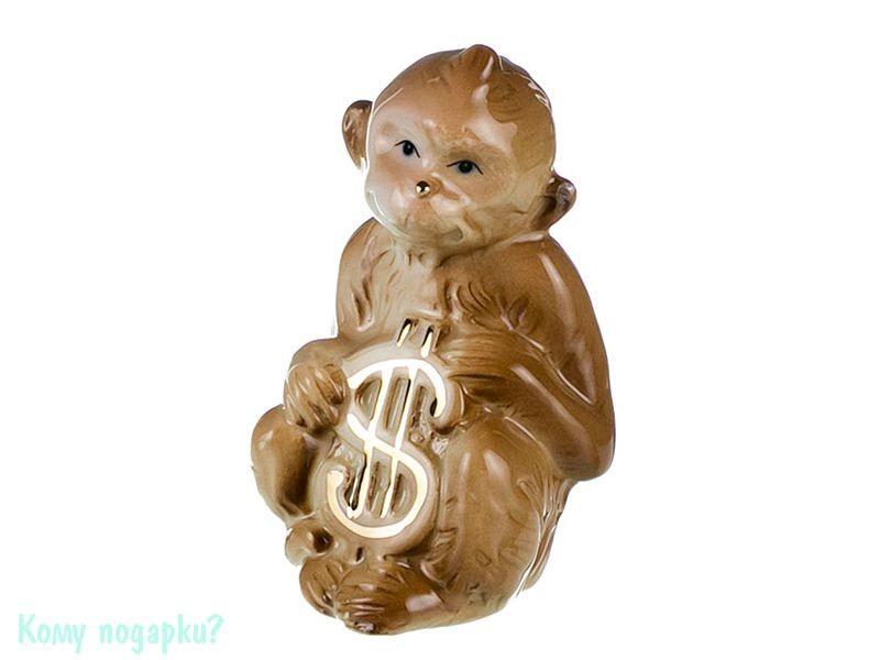Фигурка «Обезьянка со знаком доллара» (h=8 см), коричневая