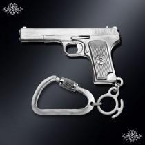 Серебряный брелок Пистолет/ТТ