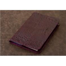 Ежедневник Vignette (фиолетовый, крокодил; нат. кожа)