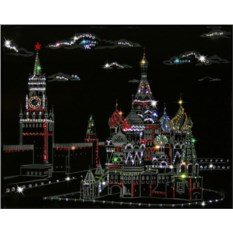 Картина из кристаллов Swarovski Кремль