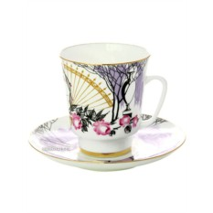 Фарфоровая кофейная чашка с блюдцем Посвящение