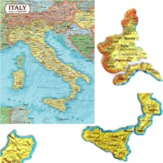 Картографический пазл «Италия»