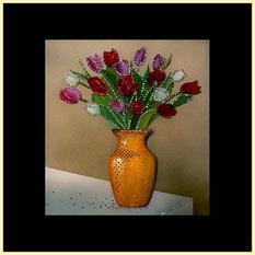 Картина Swarovski - Букет тюльпанов