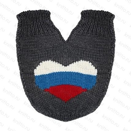 Варежки для влюбленных Флаг России