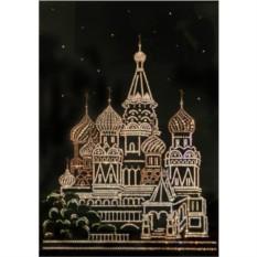 Картина с кристаллами Swarovski Москва большая