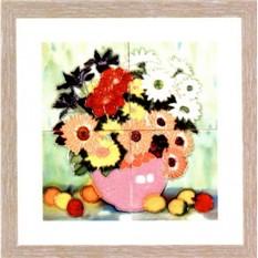 Фарфоровая картина Ваза с цветами