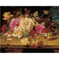 Картина по номерам «Натюрморт с розами»