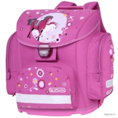 Розовый ранец Herlitz Midi Лошадки