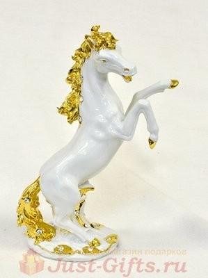 Статуэтка Конь (белая с золотом) Sabadin