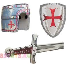 Детский набор рыцаря-крестоносца (щит, меч, шлем)