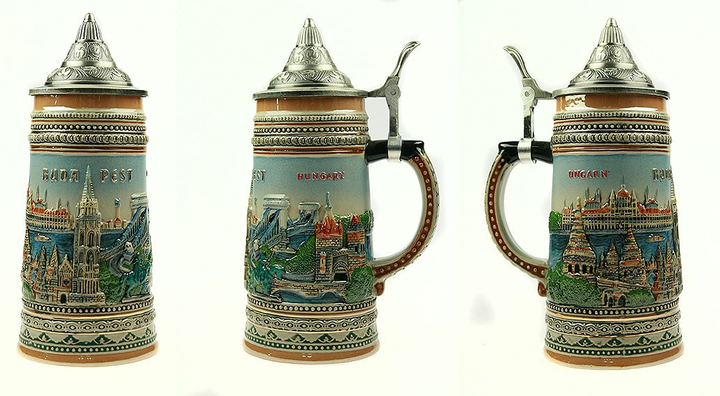 Коллекционная пивная кружка Будапешт, 19см, 750мл